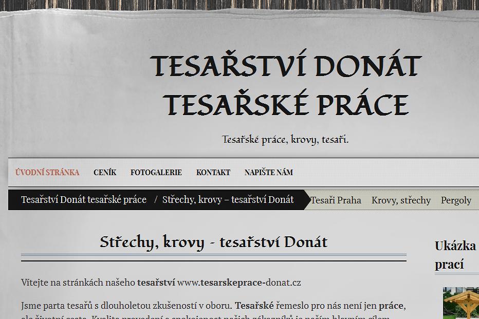 tesařství Děčín